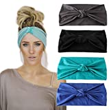 LOLIAS Multi-Style Headband for Fitness Sports Running Workout Yoga Women's Hair Band Wide