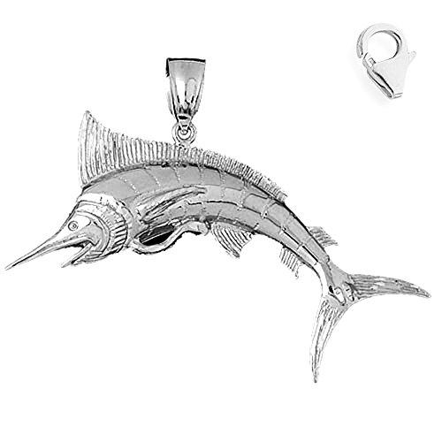 Jewels Obsession Marlin Charm | 14K White Gold Marlin Charm Pendant - ()