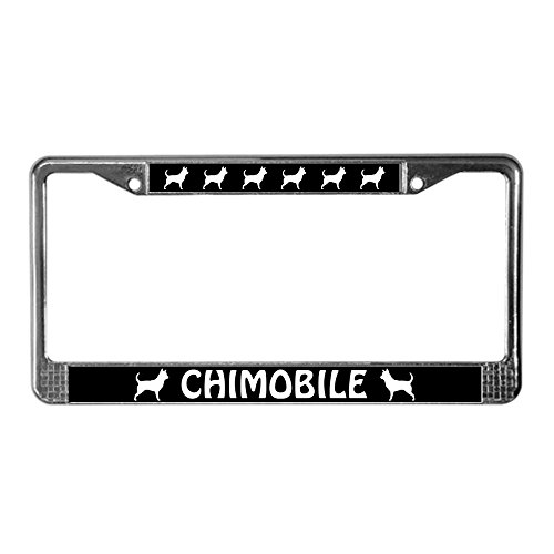CafePress CHIMOBILE Chihuahua License Chrome