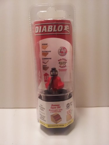 Diablo 1-1/16 in. Dia. x 5/32 in. x 2-3/16 in. L Carbide Roman Ogee Bit