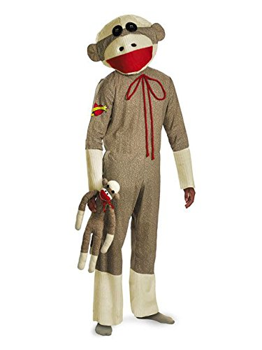 Sock Monkey Adult Costume, XL -