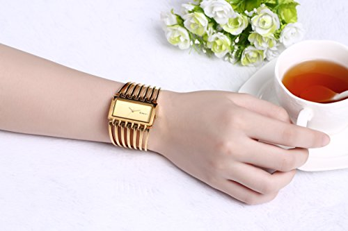 0a7b5caf07383 Women Luxury Gold Bangle Watch Fashion Stainless Automatic Watch Designer  Cuff Bracelet Watches