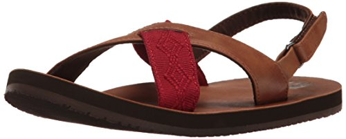 Picture of Reef Boys' Grom Crossover Sandal, Brown/Red, 13-1 M US Big Kid