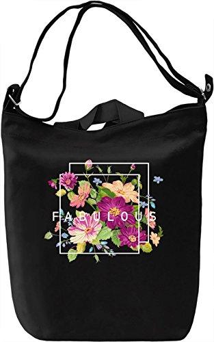 Fabulous Borsa Giornaliera Canvas Canvas Day Bag| 100% Premium Cotton Canvas| DTG Printing|