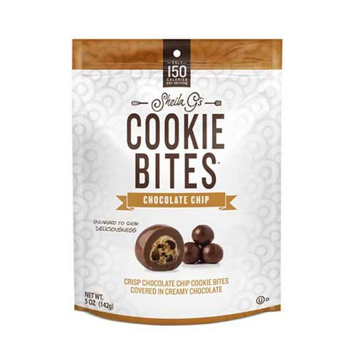 Sheila Gs Chocolate Chip Cookie Bites, 5 Ounce - 8 per case.