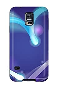 New Bright Neon Heart Tpu Case Cover, Anti-scratch BayyKck Phone Case For Galaxy S5