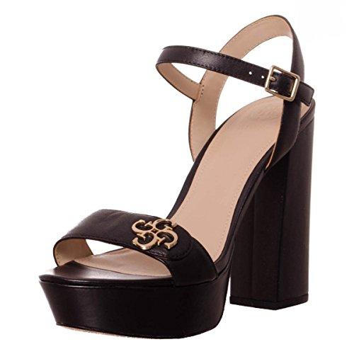 sandal Fion sandalo Black Lea03 Donna Guess leather Flfon1 Sandali nBYw4I