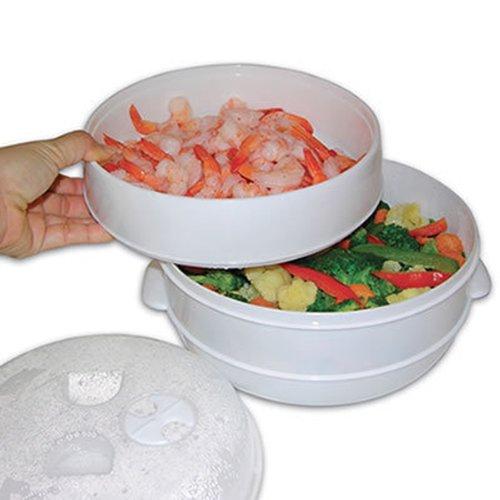 Mts - 2 nivel microondas olla vaporera verduras arroz pasta saludable cocina olla sartén