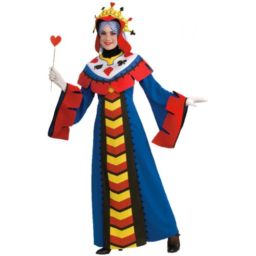 King Of Hearts Costumes For Adults (Playing Card Queen Adult Costume - Standard)