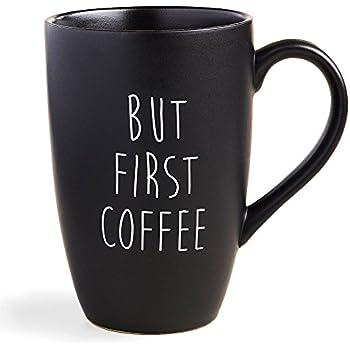 But Coffee First Mug in Black Matte - 18 Oz