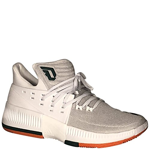 Adidas Mænds Sm Dame 3 Nba / Ncaa Basketball RunningHvid / Cgreen / Orangesld D (m) Os RunningHvid / Cgreen / Orangesld Kwhis