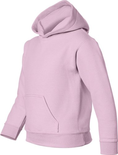 Gildan Big Boys' Heavy Blend Hooded Pocket Sweatshirt, Light Pink, X-Large by Gildan