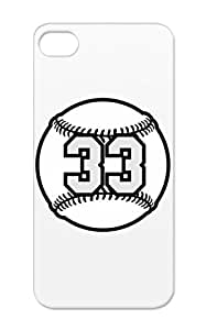Raster TAS Sports Baseball Number Baseball Ball Sports Base Black Case For Iphone 5/5s 33 3 Color