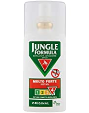 Jungle Formula Molto Forte Spray Anti-Zanzare, Repellente per Insetti con Azione Protettiva Duratura, 9 Ore di Protezione, 75 ml