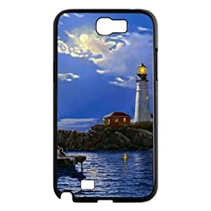 case Of Lighthouse Customized Bumper Plastic Hard Case For Samsung Galaxy Note 2 N7100