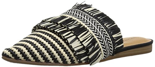 (Lucky Brand Women's Baoss Mule, Black/Natura, 6.5 M US)