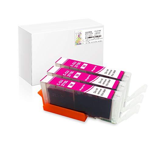 Conink 3 Pack Pgi-270xl Cli-271xl Ink Cartridges Compatible to Canon Pixma Mg5720 Mg5721 Mg5722 Mg6820 Mg6821 Mg6822 Mg7720 Ts5020 Ts6020 Ts8020 Ts9020 Printer (3M)