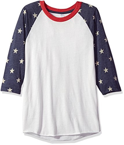 Alternative Men's Baseball Tee, Stars, 2X