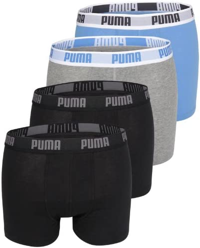 Puma Hombre Basic Boxers Calzoncillos Tipo Bóxer Pack de 4 – XL ...