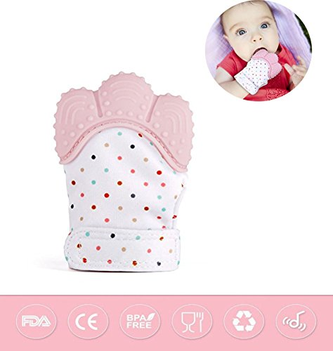 Branch Bites - Silicone Teething Mitt Baby Teether Baby Teething Mitten Teething Toys Teething Glove Infant Teething Mittens Teethers BPA Free Crinkle Sound Teether Baby Toys 3-12 Months