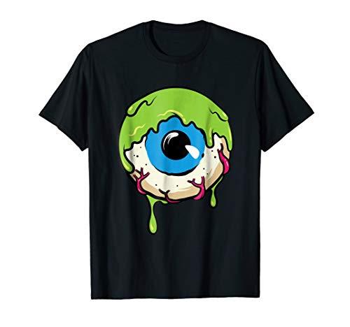 Eve Costume Ideas (Slimy Human Eye Ball - Creepy Funny Halloween Tee)
