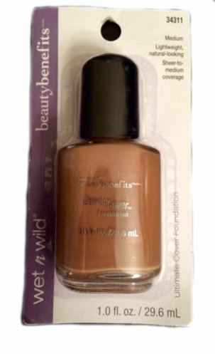 Amazon.com : Wet n Wild Beauty Benefits, Ultimate Cover Foundation, 34311 Medium, 1.0 Fl Oz : Foundation Makeup : Beauty