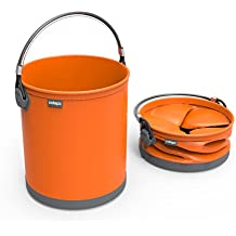 COLOURWAVE Collapsible Water Bucket, 2.6-Gallon, Juicy Orange