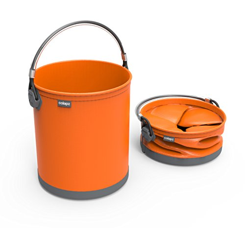 COLOURWAVE Collapsible Water Bucket, 2.6-Gallon, Juicy Orange