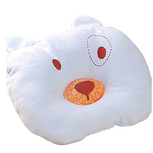 Soft Cotton Bear shaped Baby Pillow Newborn Infant Toddler Sleeping Pillow Sleeping Support Pillow Prevent Flat Head Flathead,Great Gift for 0-12 Months Baby