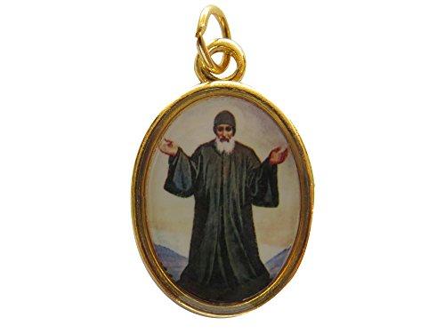 San Charbel Medal Charbel Makhluf (Gold-tone) Health Protection Pray Handmade Medalla De San Charbel