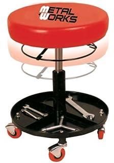 Capacidad de 300 Libras Color Rojo y Negro Silla mec/ánico con Ruedas Ajustable CASTOOL