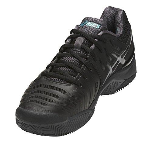 Asics Gel-Resolution 7 Clay, Zapatillas de Tenis para Hombre Negro (Black/dark Grey/lapis)