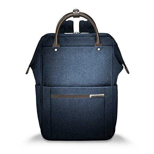 Briggs & Riley Kinzie Street, Framed Wide-Mouth Backpack, Navy by Briggs & Riley