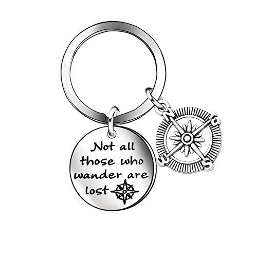 - Niceter Graduation Gift for Mens Womens Boys Girls Personalized Compass Pendant Keychain Key Chains Rings