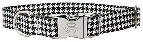 (Country Brook Petz | Premium Houndstooth Dog Collar - Small)