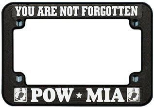 Americas & Americas POW-MIA Motorcycle License Plate Frame - - License Plate Motorcycle Mia Frame
