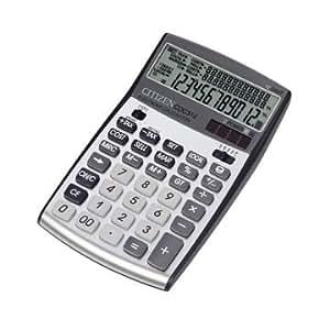 Citizen CDC312 Bolsillo - Calculadora (Bolsillo, Calculadora básica, 12 dígitos, 3 líneas, Batería/Solar, Negro, Plata)