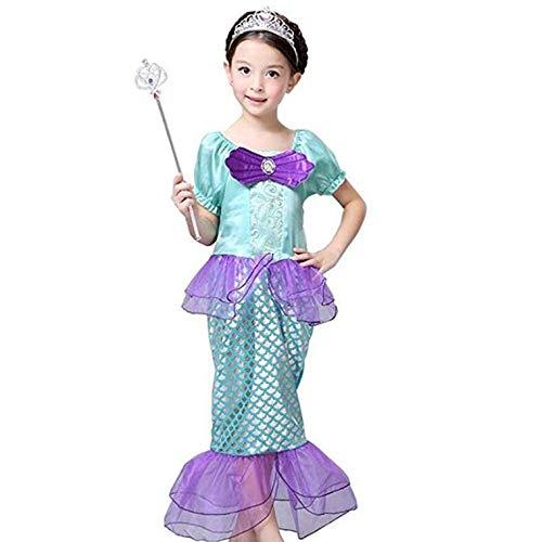 Peachi&Kids Girl's Little Mermaid Princess Ariel Costume Girls