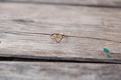 Heart ring, Gold ring, Simple ring, Minimal ring, Delicate ring, Basic Ring, Gold heart ring, Simple gold ring, Daily ring, Daily gold - Me Brighton Near Store