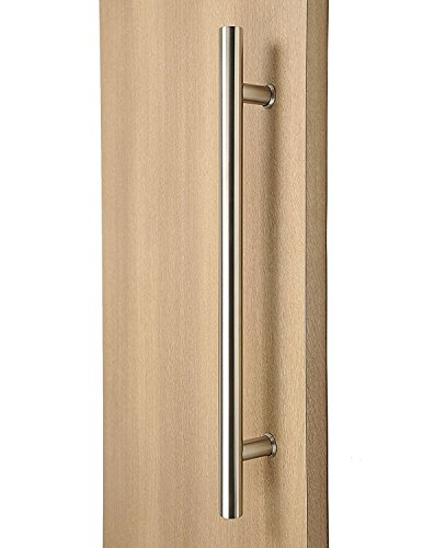 "STRONGAR Stainless Steel 36"" Extra Length Ladder Style Back-to-Back Push-Pull Door Handle - Brushed Satin Finish (Glass Back Push)"