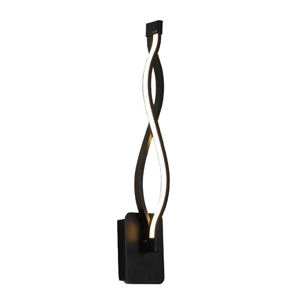 Innenwandleuchte, LED Moderne Wandleuchte Schwarz-Kurven-Modelling Acryl Aluminium Sconce Nachttischlampe Moderne Einfachheit Beleuchtung für Schlafzimmer Wohnzimmer Korridor