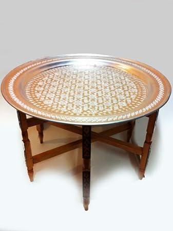 Orientalischer Marokkanischer Orient Tablett Tisch Couchtisch 80cm