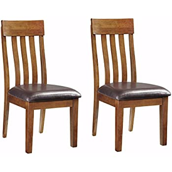 Ashley Furniture Signature Design   Ralene Upholstered Dining Side Chair    Rake Back Style   Set