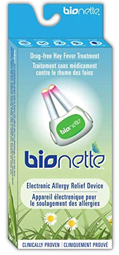 - Bionette Pocket Electronic Hayfever Allergy Relief Treatment Device, Red Light Technology- Allergic Rhinitis Reliever