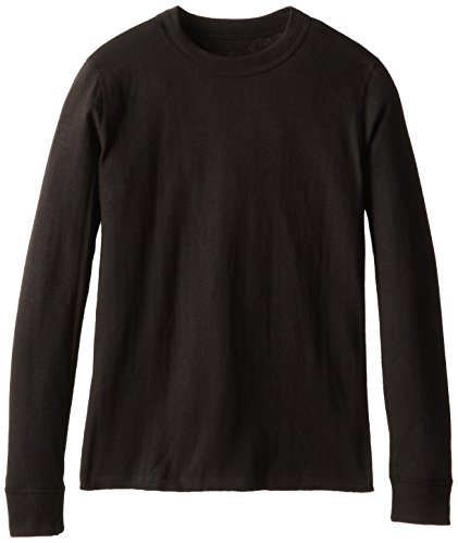 Duofold Boys Light Weight Double Layer Thermal Shirt, Black, (Lightweight Thermal Shirt)