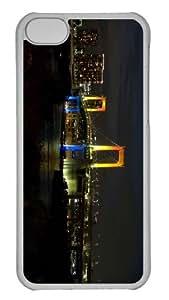 iPhone 5C Case Customized Unique Print Design Tokyo Rainbow Bridge iPhone 5c Cases Transparent
