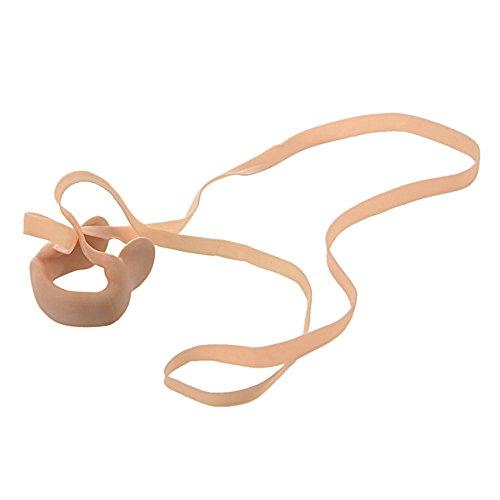 Hinmay en caoutchouc Pince-nez élastique protecteur de nez avec corde pour nager