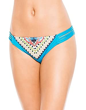 Women's Tribal Fusion Tab Side Hipster Bikini Bottom