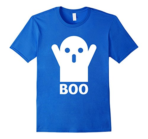 Cool Costumes Easy Make Halloween (Mens Funny Boo Ghost T-Shirt Lazy Easy Halloween Costume Gag Gift Large Royal)