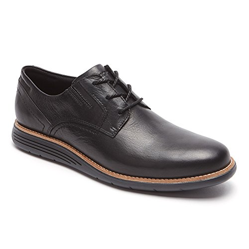 Rockport Men's Tsmsd Plain Toe Oxford Black Leather 10.5 M